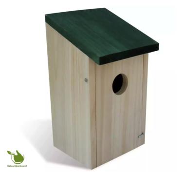 bird house askew roof (green)