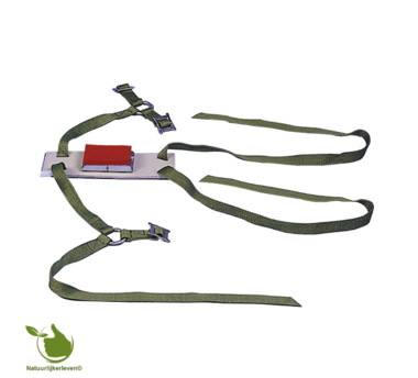 Ram sheep marking harness for breeding made from leather and nylon