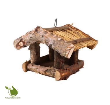 Bird feeder house Birch