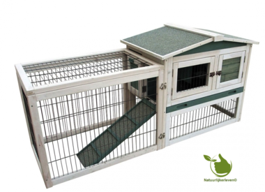 Rabbit hutch Lambert 155x53x70cm