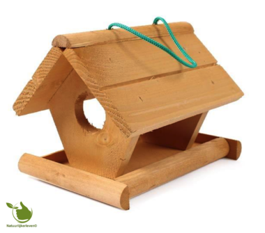 Feeder for garden birds - wood 21x18x17cm