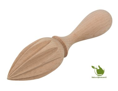 Lemon squeezer, pointed shape - made of beech wood