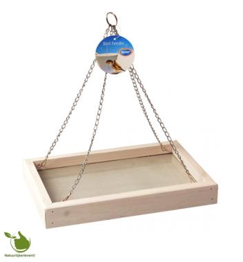 Bird feeding table hanging model White cottage 30x20x4cm