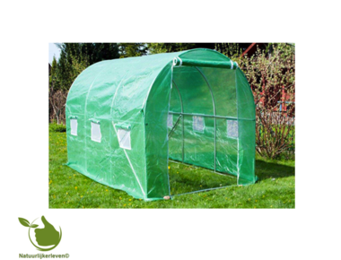 Tunnel greenhouse 2x4,5x2 meters