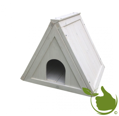 Woodland triangle shelter loft cottage White 52x42x42cm