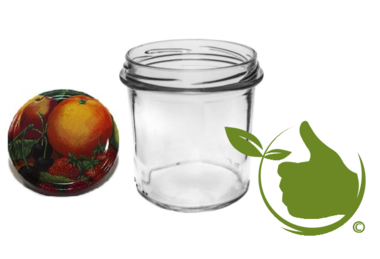 Jam pots 346 ml with twist-off lid (fruit classic) 6 in unit