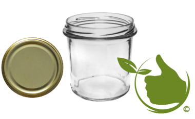 Jam pots 346 ml with twist-off lid gold