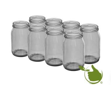 Glass pots 900 ml