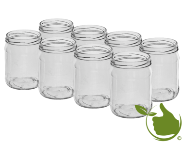 Glass pots 500 ml