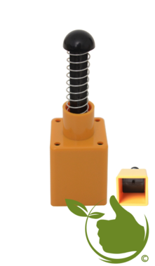 Pot press plastic yellow 4x4 cm