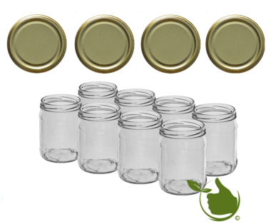 Jam pots 500 ml with twist-off lid gold