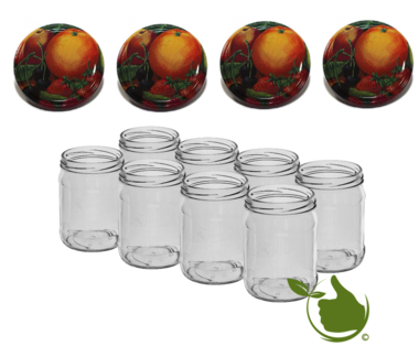 Jam pots 500 ml with twist-off lid (fruit classic) 8 in unit