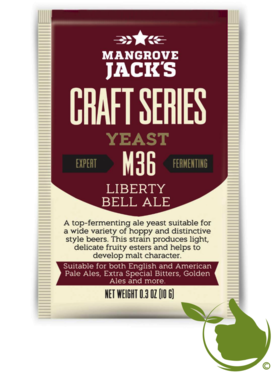 Dried brewing yeast Liberty Bell Ale M36 - Mangrove Jack's Craft Series - 10 g