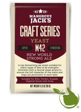 Dried brewing yeast New World Strong Ale M42 - Mangrove Jack's Craft Series - 10 g