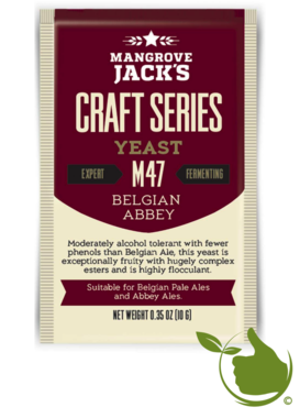 Dried brewing yeast Belgian Abbey M47 - Mangrove Jack's Craft Series - 10 g