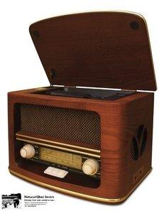 Onwijs Retro radio met CD speler en MP3 en opname recording - Sustainable UI-35